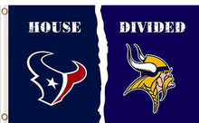 Load image into Gallery viewer, Houston Texans vs Minnesota Vikings Divided Flag