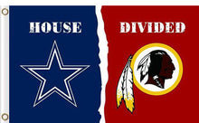 Load image into Gallery viewer, Dallas Cowboys vs Washington Redskins Divided Flag