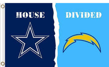 Load image into Gallery viewer, Dallas Cowboys vs San Diego Chargers Divided Flag