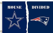 Load image into Gallery viewer, Dallas Cowboys vs New England Patriots Divided Flag