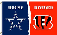 Load image into Gallery viewer, Dallas Cowboys vs Cincinnati Bengals Divided Flag