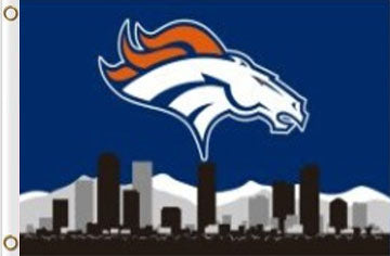 Denver Broncos Blue Skyline flag Banner 3x5ft