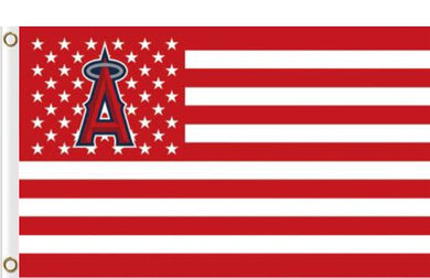 Los Angeles Angels USA American Flag 3x5ft