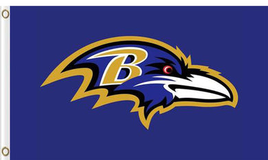 Baltimore Ravens Team Logo Flag 3ftx5ft