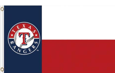3x5ft Polyester Texas Rangers Logo Flag