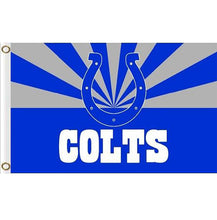 Load image into Gallery viewer, Indianapolis Colts flag 90x150cm with 2 Metal Grommets