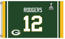 Load image into Gallery viewer, 12 Th Rodgers Green Bay Packers Flag 3X5Ft