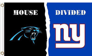 Carolina Panthers vs New York Giants Divided Flag