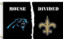 Load image into Gallery viewer, Carolina Panthers vs New Orleans Saints Divided Flag