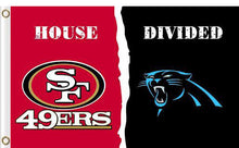 Load image into Gallery viewer, Carolina Panthers vs San Francisco 49ers Divided Flag