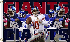 New York Giants Sports Banners Flags 3ftx5ft