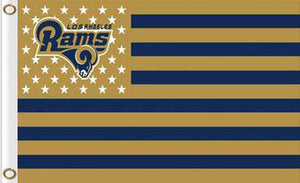 Los Angeles Rams Sports Banners Flags 3ftx5ft