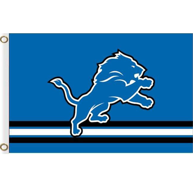 Detroit Lions Three Lines flags 3ftx5ft