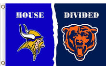 Load image into Gallery viewer, Minnesota Vikings vs Chicago Bears Divided Flag