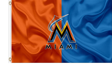 Miami Marlins Two Color Banner flag 3ftx5ft