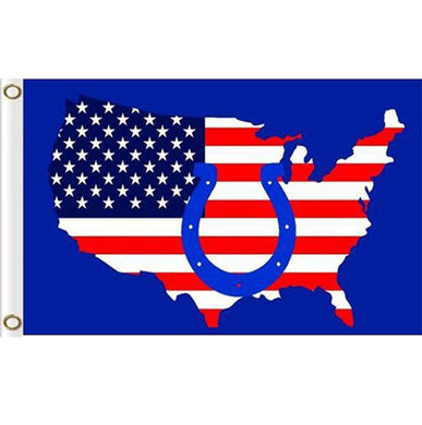 Indianapolis Colts 90x150cm American map flag