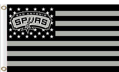 San Antonio Spurs logo and star-spangled flags 90x150cm