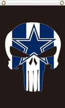 Load image into Gallery viewer, Dallas Cowboys football flag 90*150 CM skeleton