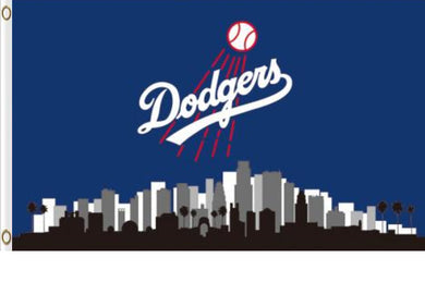 Los Angeles Dodgers Skyline Banner flag 3ftx5ft