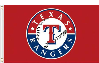 3x5ft Polyester Texas Rangers Red Flag