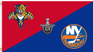 Florida Panthers vs New York Islanders divided flag 3x5 ft