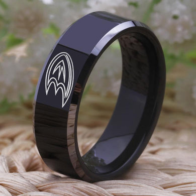 8MM Black Tungsten Anaheim Ducks Championship Ring