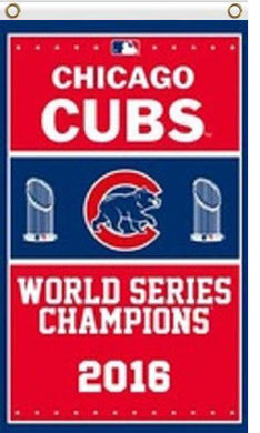 Chicago Cubs champions 2016 flag 3ftx5ft