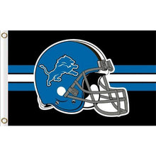 Load image into Gallery viewer, Detroit Lions Helmet flag with lines 90x150cm