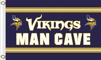 Minnesota Vikings Team Logo Sports Club Flags 3ftx5ft