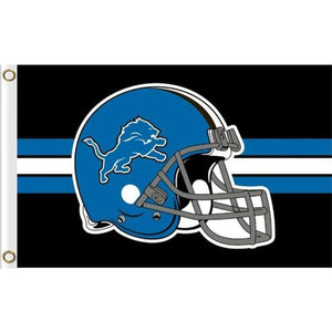 Detroit Lions Helmet flag with lines 90x150cm
