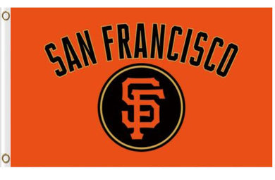 San Francisco Giants Logo Orange Banner flags 90x150cm