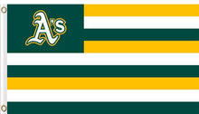 Load image into Gallery viewer, Oakland Athletics Nation Flag Stripe 3x5 FT