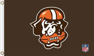 Cleveland Browns National Football Logo Flags 3ftx5ft