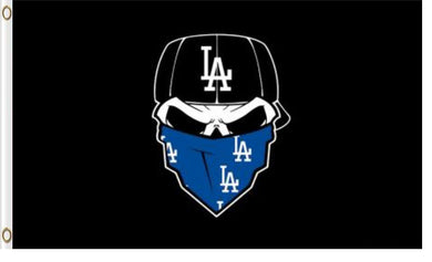 Los Angeles Dodgers Skull Bandana Banner flags 3ftx5ft