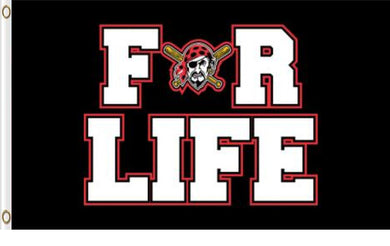 Pittsburgh Pirates For Life Banner flag 90x150cm