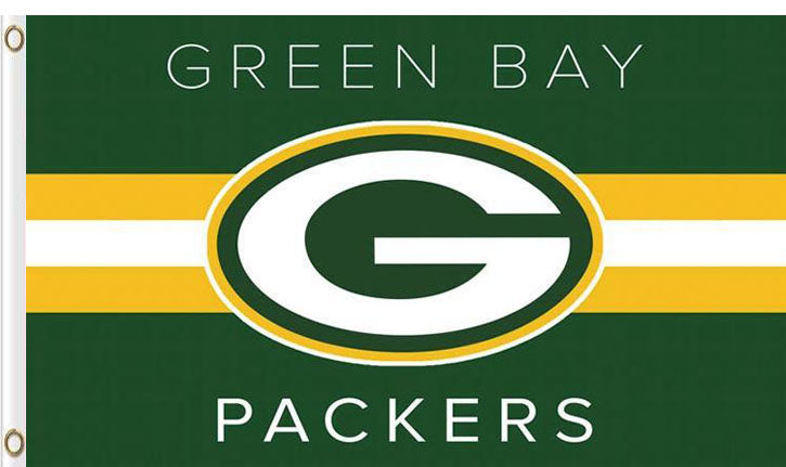 Green Bay Packers Club Logo Flags 3ftx5ft