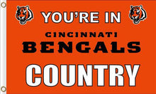 Load image into Gallery viewer, Cincinnati Bengals National Football Flags 3ftx5ft