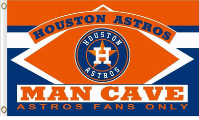 Houston Astros Man Cave Banner Team Flag 3x5ft
