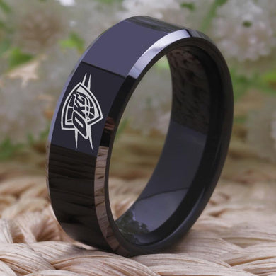 8MM Black Tungsten Oklahoma City Thunder Championship Ring