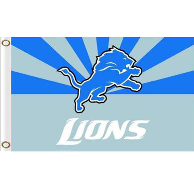 Detroit Lions flag 90x150cm polyester banner with 2 Metal Grommets