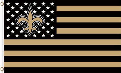 New Orleans Saints Flag with Star and Stripes 3ftx5ft