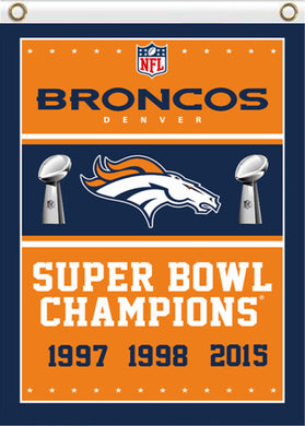 Denver Broncos Series Champions flag Banner 3x5ft
