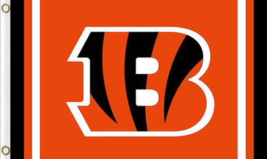Cincinnati Bengals Logo Two Strip Flag 3x5FT