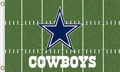 3x5ft Dallas Cowboys Green team flags