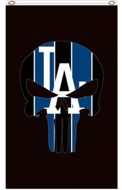 Los Angeles Dodgers Skull Vertical Banner flags 3ftx5ft