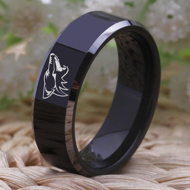 8MM Black Tungsten Arizona Coyotes Championship Ring