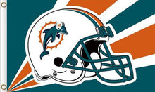 Load image into Gallery viewer, Miami Dolphins Team Logo Sports Flags 3ftx5ft
