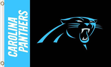 Carolina Panthers Team Logo Flag 3ftx5ft