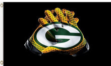 Load image into Gallery viewer, Green Bay Packers Club Logo Flags 3ftx5ft