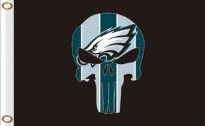 Philadelphia Eagles team Flag 3x5FT skeleton